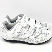 Giro Solara Patent White/Silver Women's Road Cycling Shoes Size US 5 EU 36