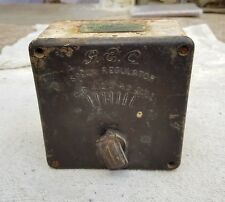 1920's VINTAGE RARE G.E.C LTD. HEAVY CAST IRON FAN SPEED REGULATOR