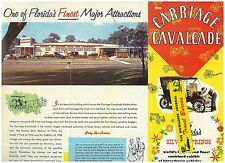 2 1950s Tourist Attractions in  Florida Color Brochures