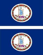 2 x Autocollant sticker voiture pc vinyl drapeau USA americain virginie