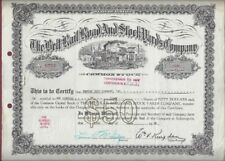 New listing The Belt Rail Road and Stock Yards Company Stock Certificate, 100 Shares, 1956