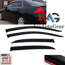 For 2003-2007 Honda Accord 4 Door Sedan Window Deflector Visor Vent Rain Guard