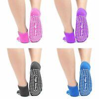 Yoga Socks Non Slip Pilates Massage Toe Socks with Grip Exercise Gym 4 Colours