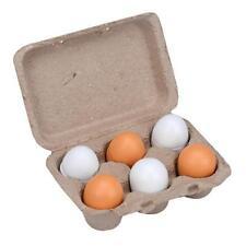 6pcs/Set Wooden Eggs Yolk Pretend Play Kitchen Food Cooking Kid Toy Xmas Gi C8U7