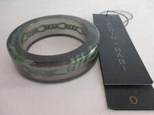 SACHIN & BABI Green Resin Link Wide Bangle bracelet NIP Tags