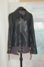 Marc by Marc Jacobs Black Leather Women's Jacket Size Medium Zippers