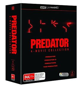 PREDATOR 1-4 (1987-2018) COMPLETE inc The Predator - Au 4K Ultra HD UHD BLU-RAY