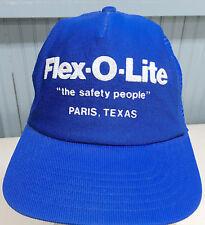 Flex-O-Lite Safety People Paris Texas Snapback Baseball Cap Hat