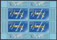 DDR Mi Nr. 3192 F 3 ** im KB Kleinbogen, PF schwarzer Fleck Satellit, postfrisch