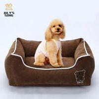 Puppy Dog Cat Pet Basket Bed Fleece Cushion Soft Washable Kennel Mat Pad Blanket