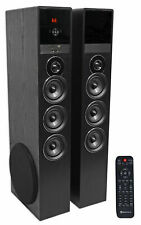 Rockville TM150B Black Home Theater System Tower Speakers 10