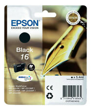 Original Epson 16 Pen Black Durabrite Ultra Ink Cartridge T1621 C13T16214010 New
