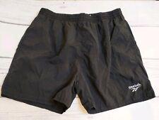 Vintage Reebok Vintage Lined Black Athletic Swim Trunk Shorts Men's Size XL
