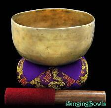 "Antique Tibetan Singing Bowl: Thado 6 7/8"",ca. 18th C., G#3 & C#5. VIDEO"