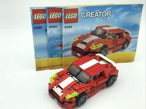 LegO Creator 3in1 31024 Roaring Super Car, Dinosaur, Plane With Instructions
