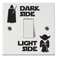 Star Wars Inspired Light Side Dark Side Light Switch Vinyl Sticker