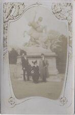 in the garden of Tuileries Sculpture Photography on paper postcard VintageN