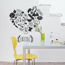 Wall Decal Sticker Kitchen lifestyle fitness vegetables cafe food i38