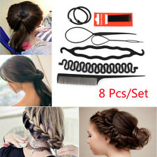 8 Pcs Set Styling Clip Bun Maker Hair Twist Braid Ponytail Tool-Accessories