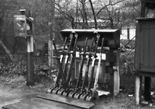 PHOTO  LMS BODFARI RAILWAY STATION  LEVERS FOR THE POINTS