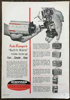 1961 Auto Ranger Automotive Testers Print Ad Simpson Electric Chicago