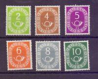 Bund 1951 - 6 Werte Posthorn MiNr. 123/128 ** geprüft - Michel 90,00 € (438)