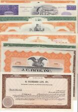 10 Different Stock Certificates