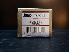 New Juno Trac 12 Tlr34Bl Black Track Lighting End Conduit Feed Connector