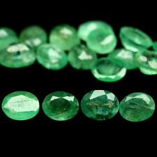 7.09 TCW 22Pcs Lot Natural Green EMERALD Loose Stones for Jewelry Setting Oval