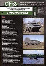 AMZ Hipopotam FHWAT catalogue brochure military armored transporter