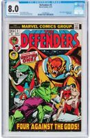 The Defenders #3 (Marvel, 1972) CGC VF 8.0 Off-white to white pages.