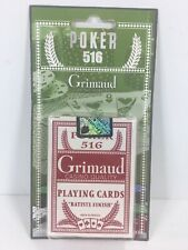 Grimaud Casino Quality Playing Cards Poker 516 New Sealed