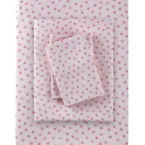 Rachel Simply Shabby Chic MON AMIE Pink Floral Sheet Set POLYESTER - Queen