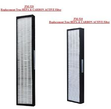PureMate PM 510 & 520 & 9005 Replacement True Hepa Filters plus carbon filters