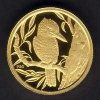 Australia. 2009 (1991) 1/20th oz Gold Kookaburra ($5).  Perth Mint Issue - Proof