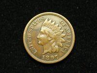 SUMMER SALE!! XF 1897 INDIAN HEAD CENT PENNY w/ DIAMONDS & FULL LIBERTY #196s
