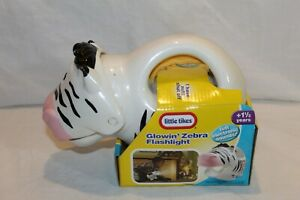 New Little Tikes Glowin' Zebra Flashlight 0453 2005 kids Still In Box