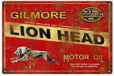 Lion Head Gilmore Motor Oil Reproduction Garage Shop Metal Sign 18 x 30  RVG117