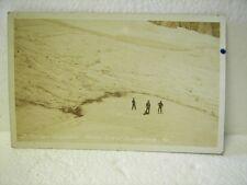 1916 D Miller Snoqualamie Wa Rppc Hunters on Glacier