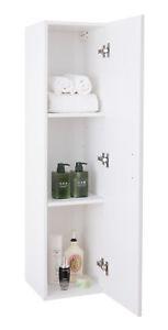 New Basicwise Modern Long Bathroom Wall Mounted Cabinet, White, QI003551.W