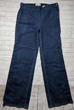 Talbots Jeans Womens Size 6 Trouser Stretch Straight Leg Side Zip Blue