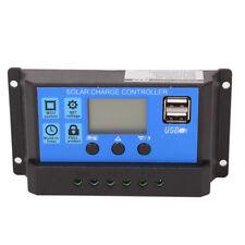 30a PWM LCD Display Charge Controller Solar Panel Battery Regulator 12v 24v