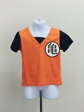Dragon Ball Z Son Goku Kids Cosplay Costume  T-shirt Complete Costume Size 5