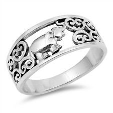 USA Seller Elephant Ring Sterling Silver 925 Best Price Jewelry Selectable
