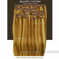 BF New Premium 100% Real Good Clip In 20'' Remy Human Hair Extensions 100g #1706