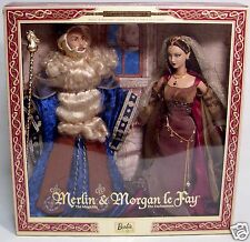 2000 Mattel Merlin the Magician & Morgan Le Fay Ken & Barbie Doll set-New in Box
