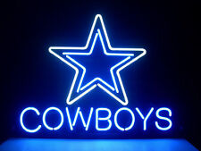 "New DALLAS COWBOYS NFL FOOTBALL REAL GLASS NEON LIGHT BEER BAR PUB SIGN 17""x14"""
