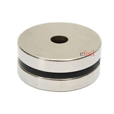 2x Large Strong 30mm x 3mm with 5mm Hole Neo Neodymium Cylinder Disc Magnets