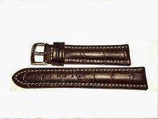 cinturino marrone scuro MORELLATO for breitling croco brown strap 18mm (TOP)