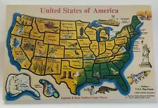 Melissa & Doug United States USA Map Deluxe Wooden Puzzle State Capitals NEW